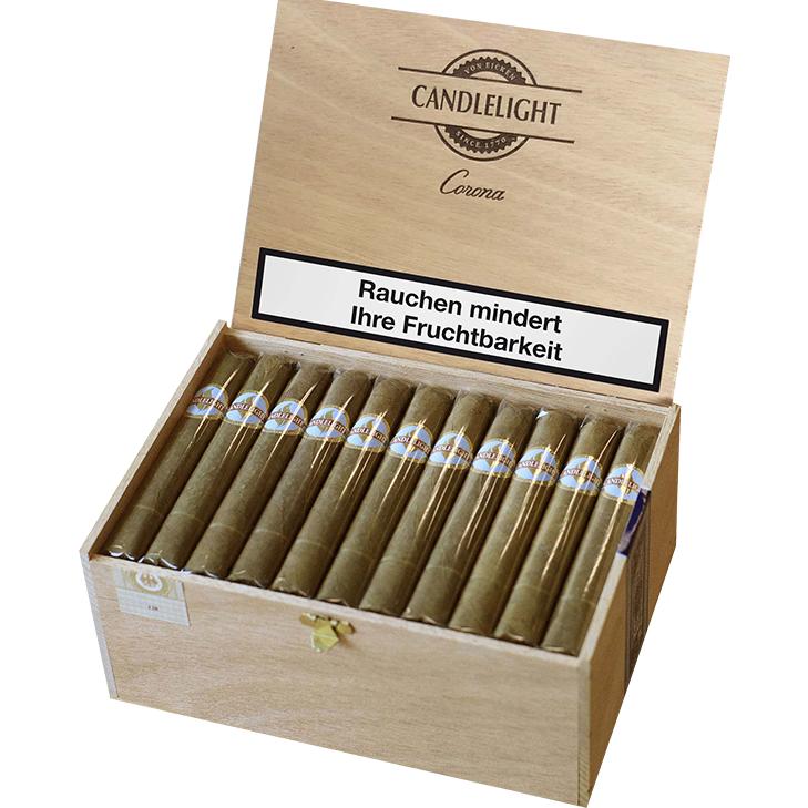 Candlelight Corona Sumatra 1 x 50 Zigarren mit Duo Feuerzeug