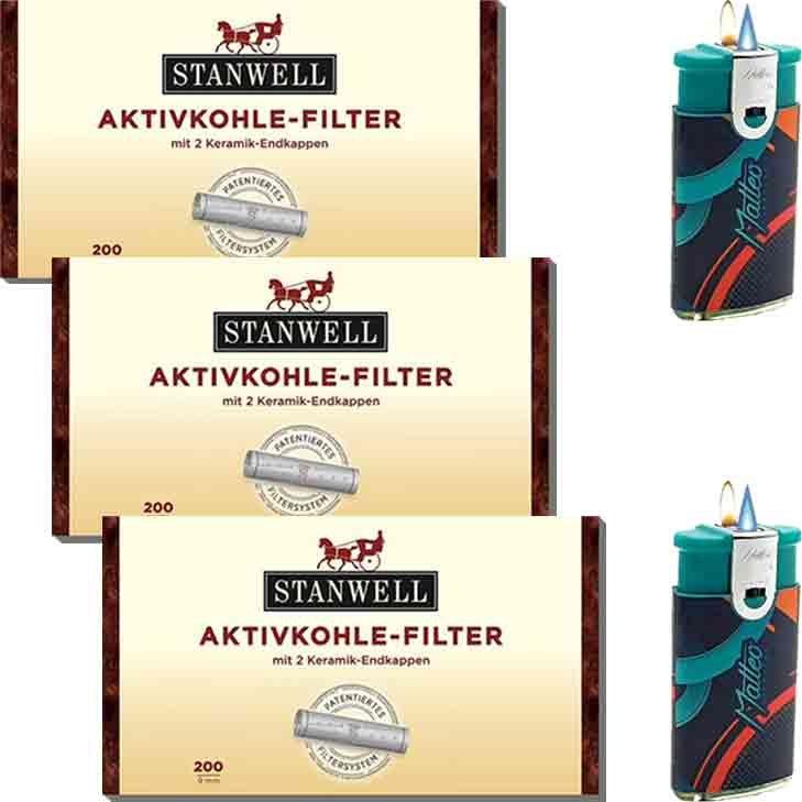 Stanwell Aktivkohlefilter 3 x 9 mm 200 Stück