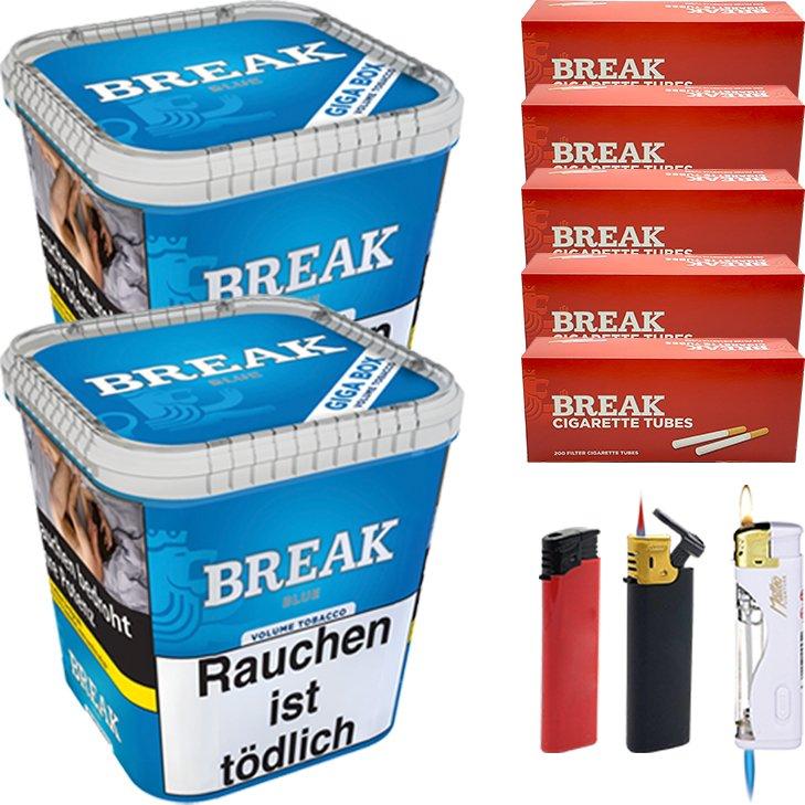 Break Blue 2 x 230g mit 1000 Hülsen