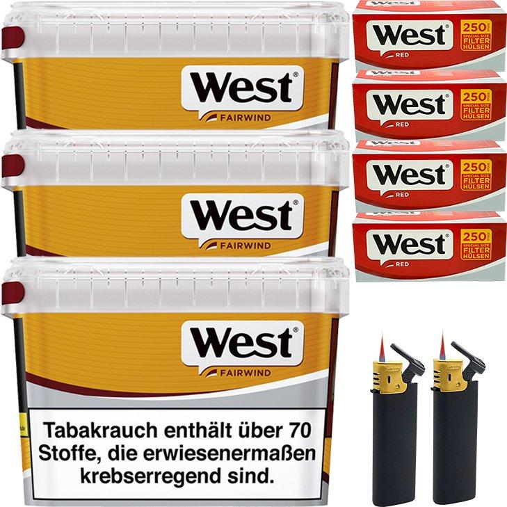 West Yellow Fairwind 3 x 185g mit 1000 Special Size Hülsen