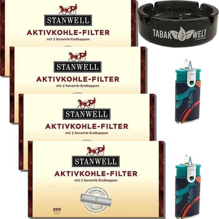 Stanwell Aktivkohlefilter 4 x 9 mm 200 Stück