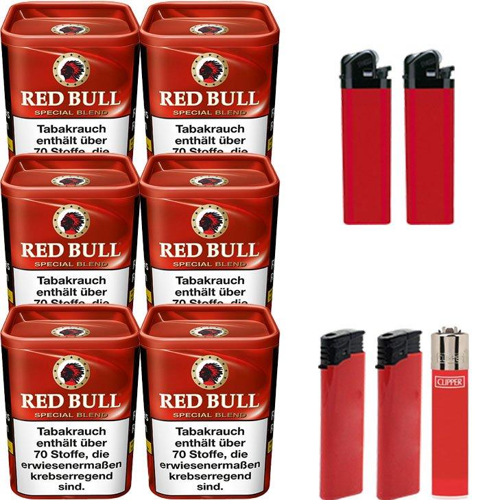 Red Bull Special Blend 6 x 120g mit Feuerzeugen