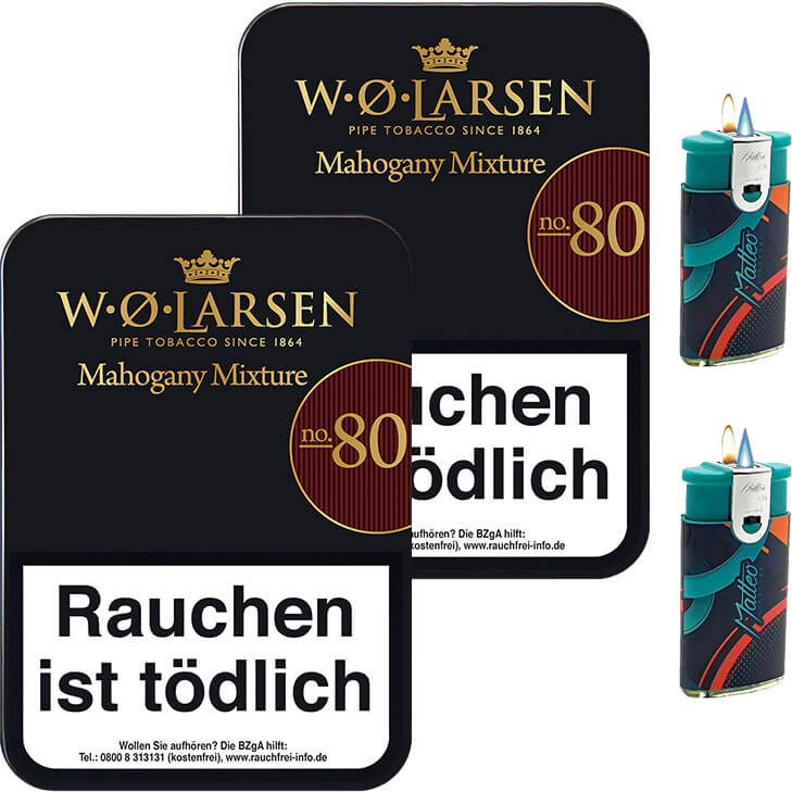 W.O. Larsen Mahogany Mixture No. 80 - 2 x 100g