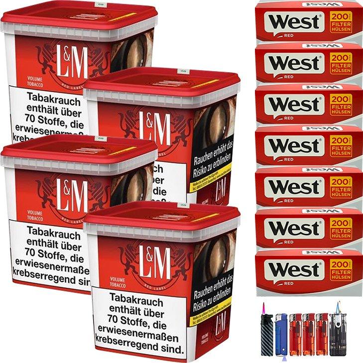 L&M Red Super Box 4 x 260g je 1400 King Size Hülsen