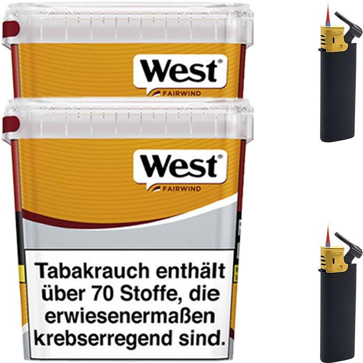 West Yellow Fairwind 2 x 280g mit Feuerzeugen