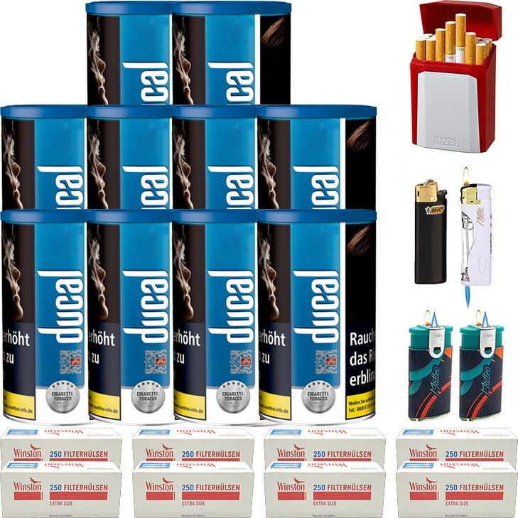 Ducal Blue 10 x 200g mit 2000 Special Size Filterhülsen