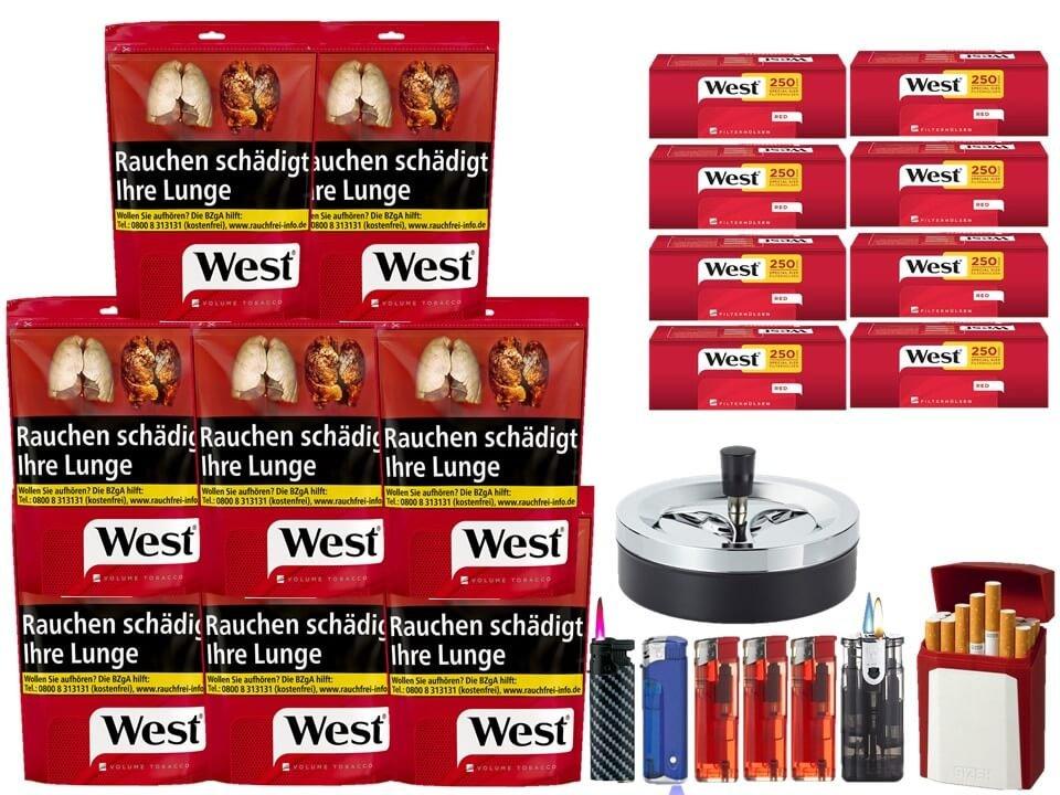 West Red 8 x 134g mit 2000 Extra Size Hülsen