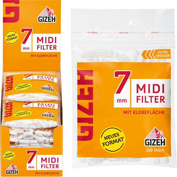 Gizeh Midi Filter 7 mm 10 x 100 Stück