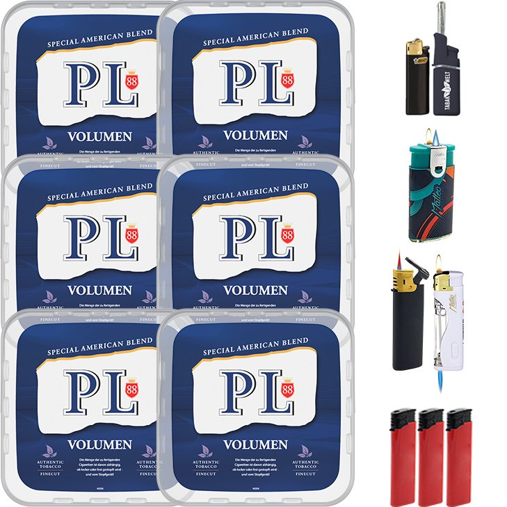 PL88 Blue / Blau 6 x 365g mit Feuerzeugen