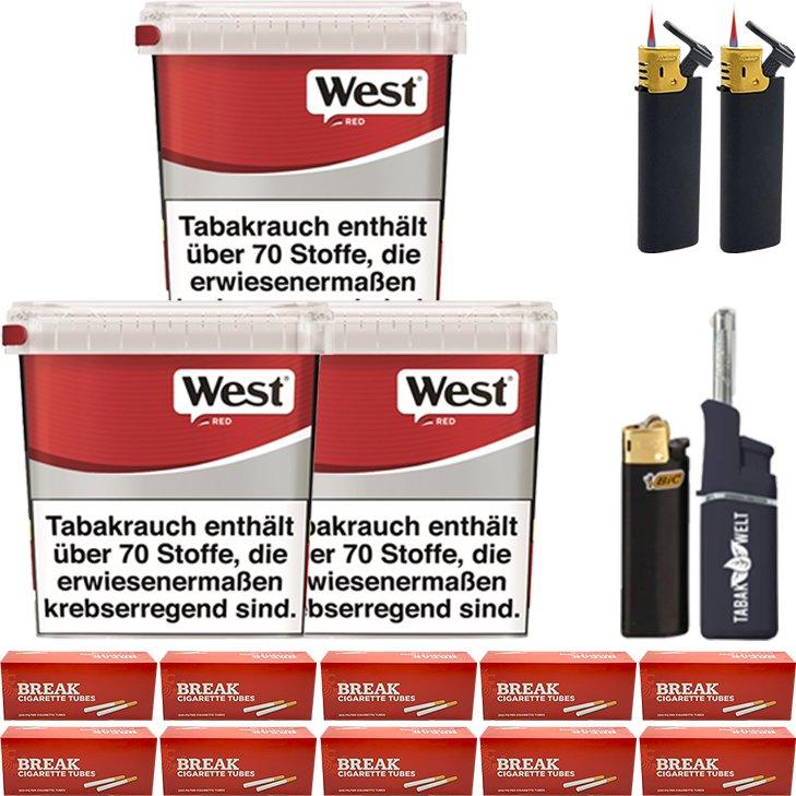 West Red 3 x 260g mit 2000 Hülsen