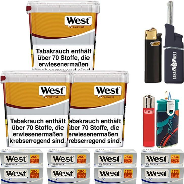 West Yellow Fairwind 3 x 310g mit 2000 Silver Special Size Hülsen