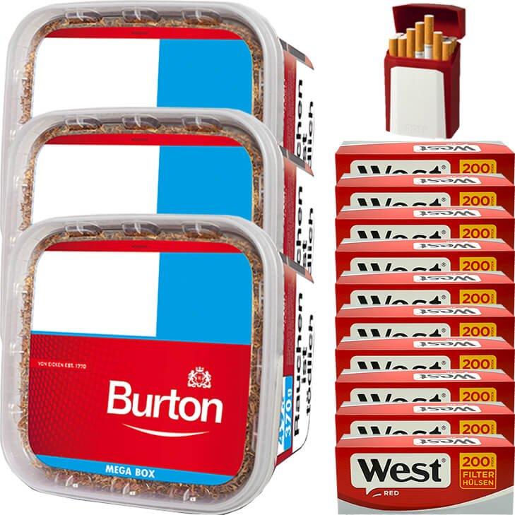 Burton 3 x 350g mit 2000 King Size Hülsen