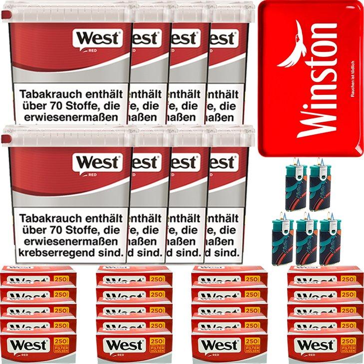 West Red 8 x 260g mit 5000 Special Size Hülsen
