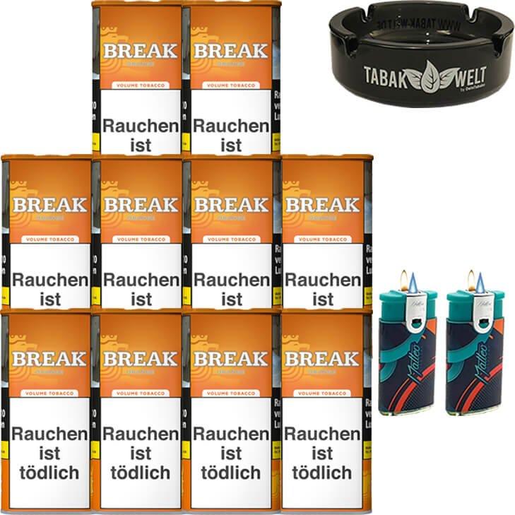 Break Orange 10 x 110g mit Glasaschenbecher