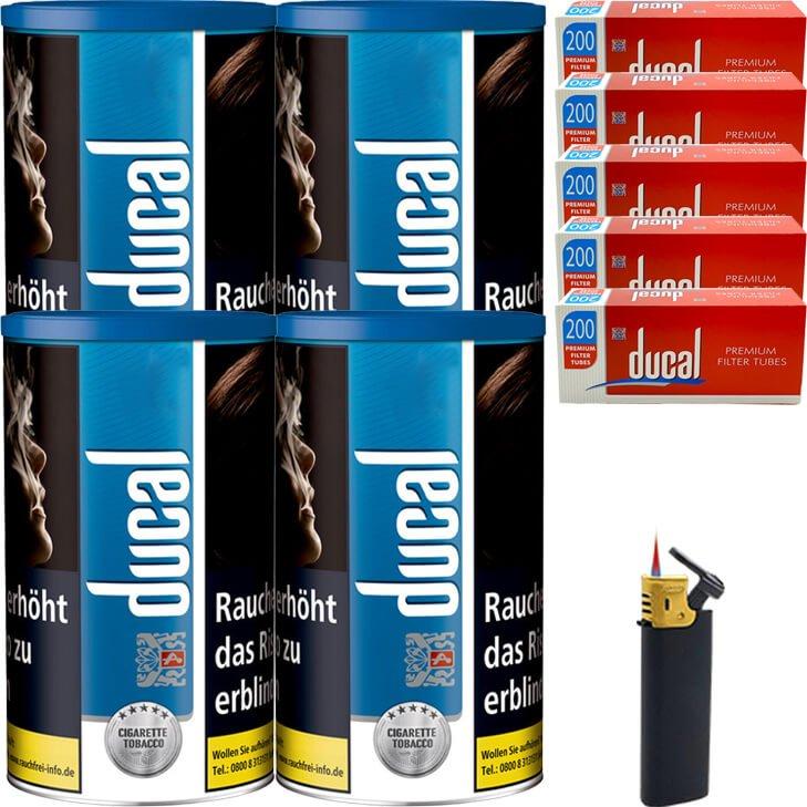 Ducal Blue 4 x 200g mit 1000 Filterhülsen