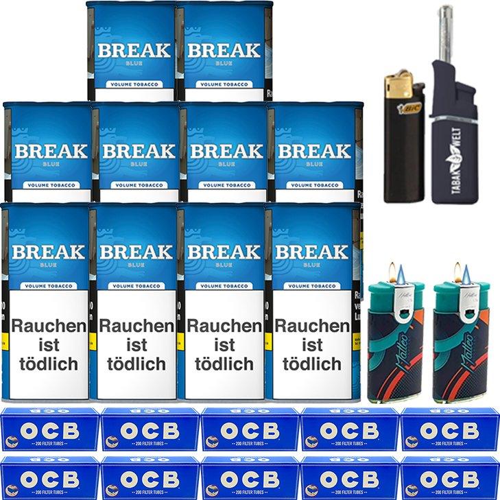 Break Blue / Blau 10 x 115g mit 2000 Hülsen