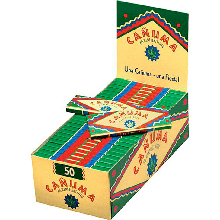 Canuma Hanfblättchen 50 x 60 Blatt