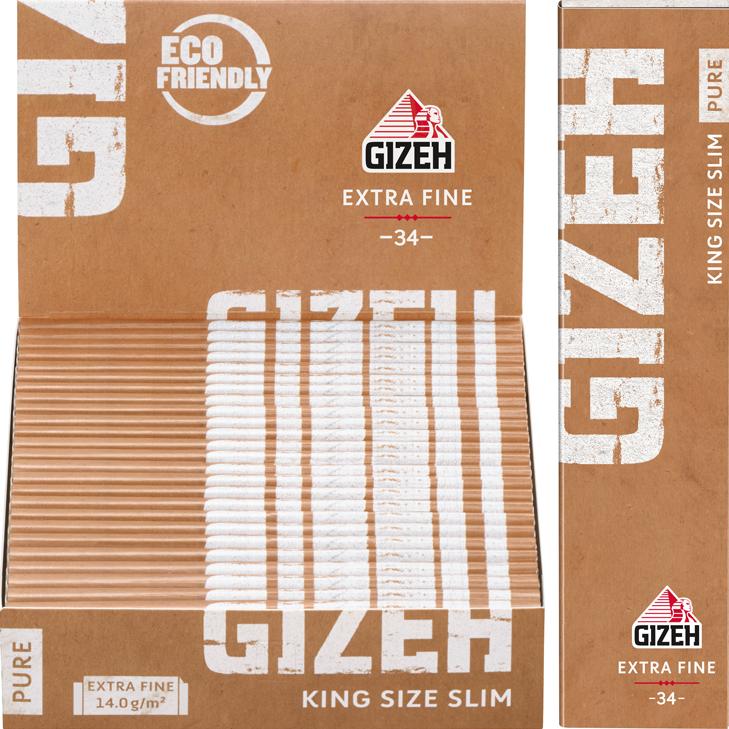 Gizeh Pure Extra Fine King Size Slim 25 x 33 Blatt