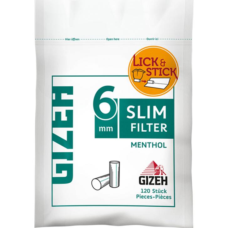 Gizeh Slim Filter Menthol 6 mm 120 Stück