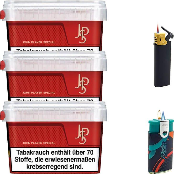 JPS John Player Mega Box 3 x 160g mit Feuerzeuge