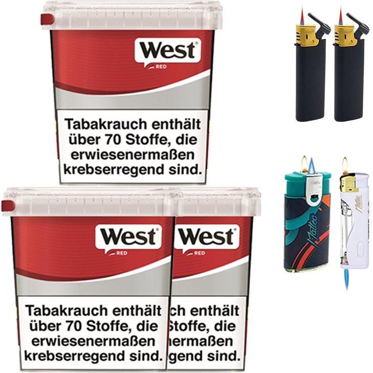 West Red 3 x 260g mit Feuerzeugen