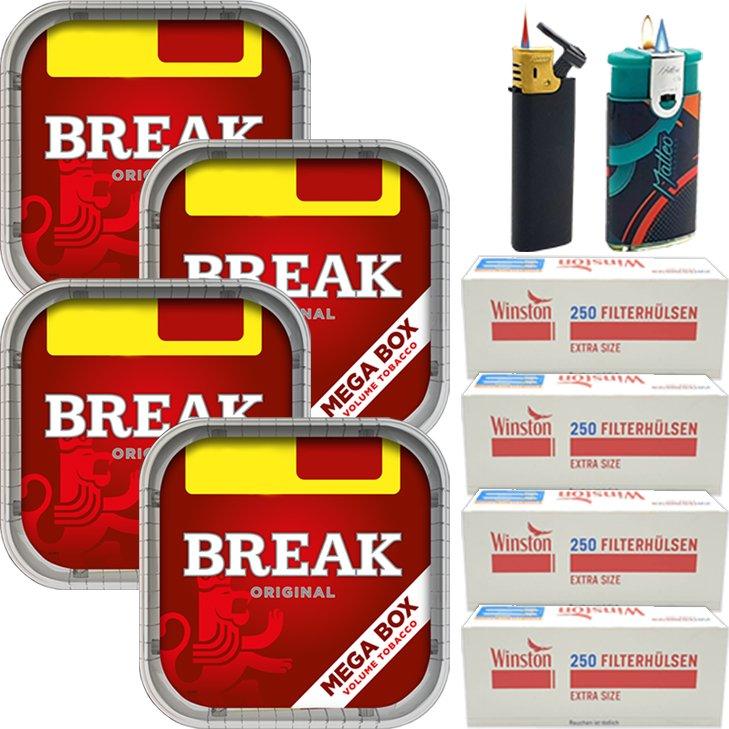 Break Original 4 x 170g mit 1000 Special Size Hülsen