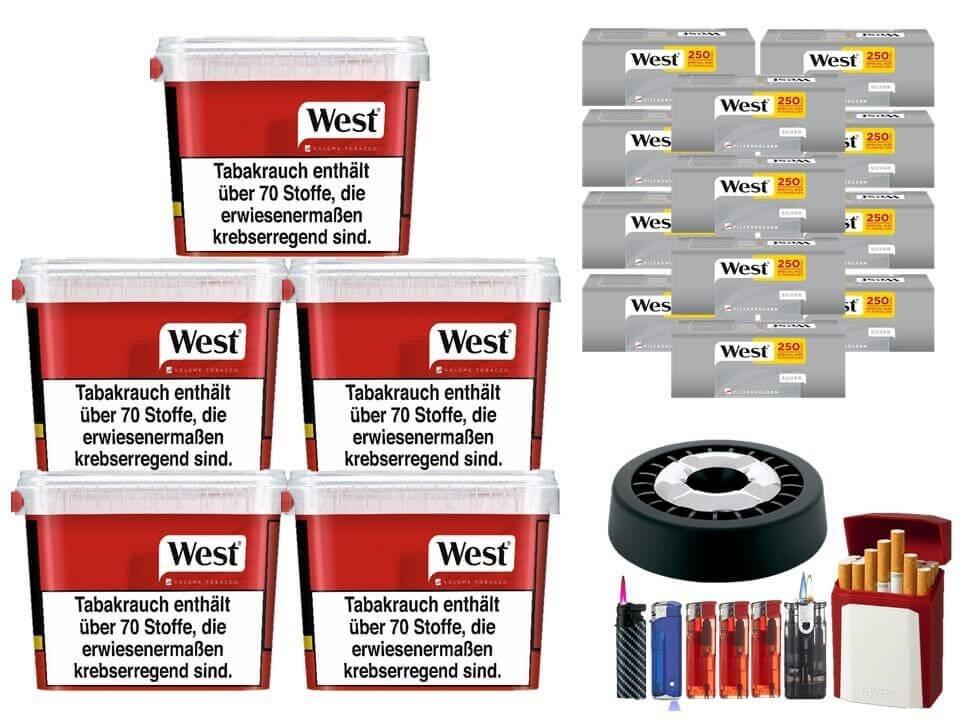 West Red 5 x 280g mit 3000 Silver Extra Size Hülsen
