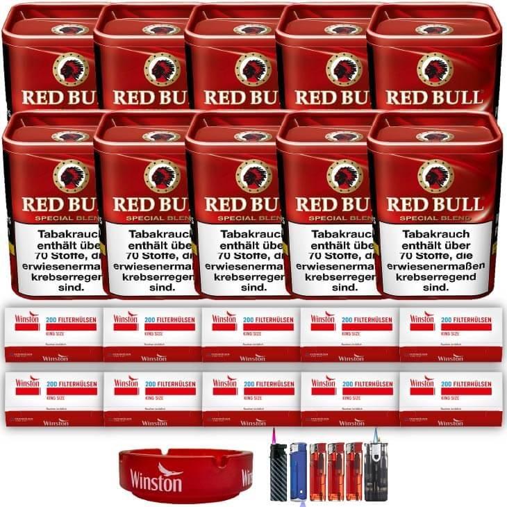 Red Bull Special Blend 10 x 120g Feinschnitt 2000 King Size Filterhülsen Uvm.