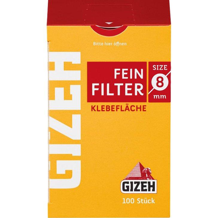 Gizeh Feinfilter 8 mm 100 Stück