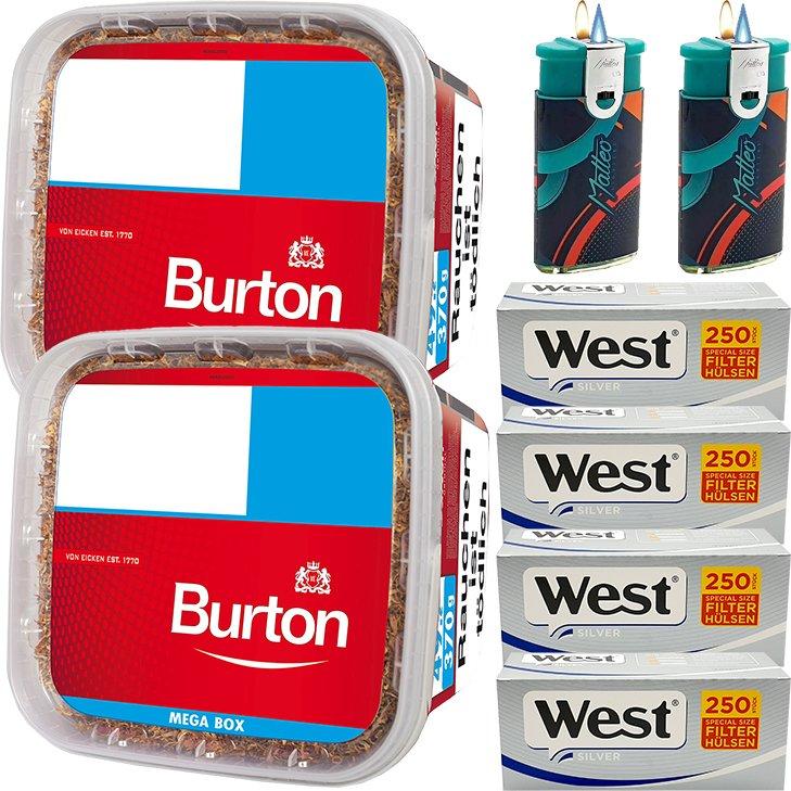 Burton 2 x 350g mit 1000 Special Silver Hülsen