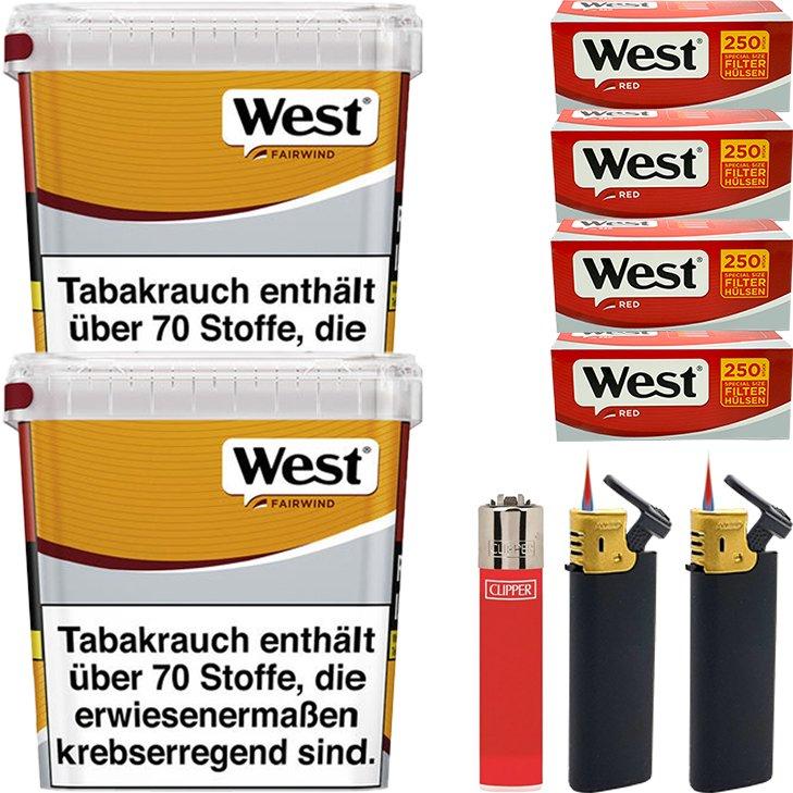 West Yellow Fairwind 2 x 310g mit 1000 Special Size Hülsen