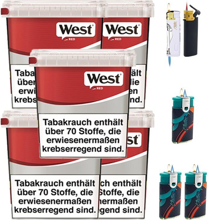 West Red 5 x 260g mit Feuerzeugen