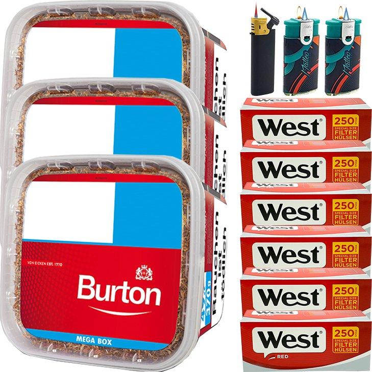 Burton 3 x 350g mit 1500 Special Size Hülsen