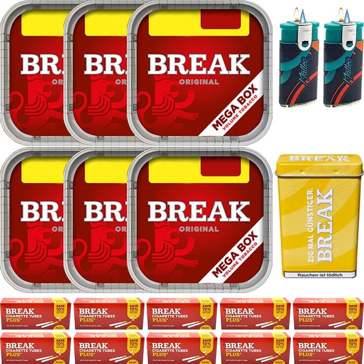 Break Original 6 x 170g mit 2000 Plus Hülsen