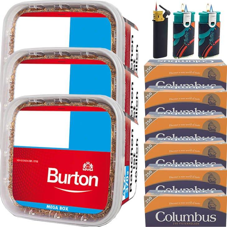 Burton 3 x 350g mit 1500 King Size Hülsen