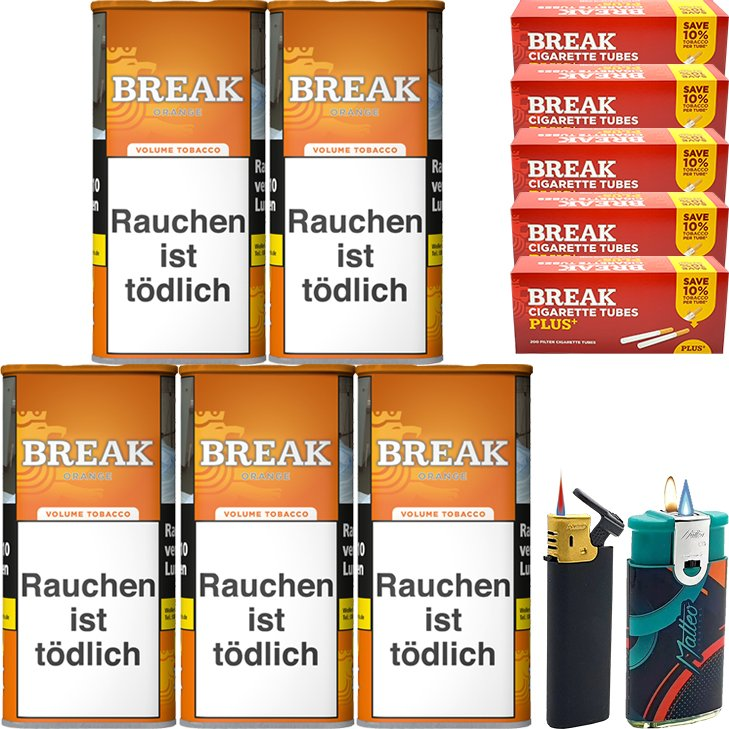 Break Orange 5 x 110g mit 1000 Plus Hülsen