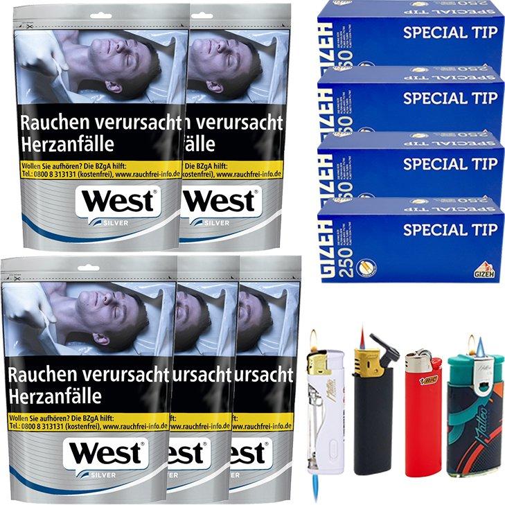 West Silver 5 x 96g mit 1000 Hülsen