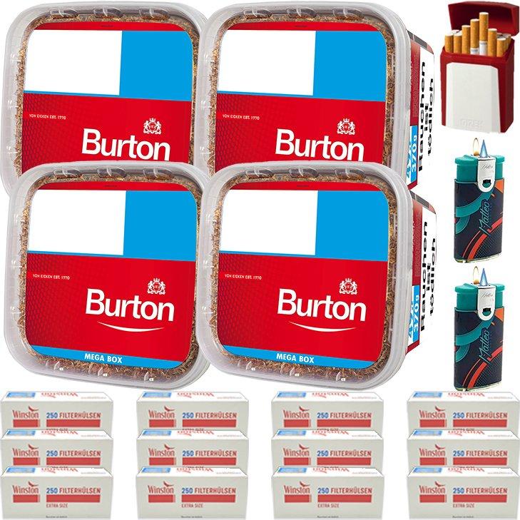 Burton 4 x 350g mit 3000 Extra Size Hülsen