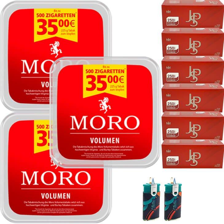 Moro Volumen 3 x 225g mit 1500 Special Size Hülsen