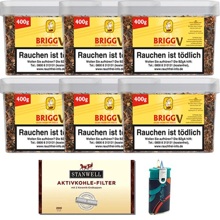 Brigg Vanilla 6 x 400g mit Aktivkohlefilter