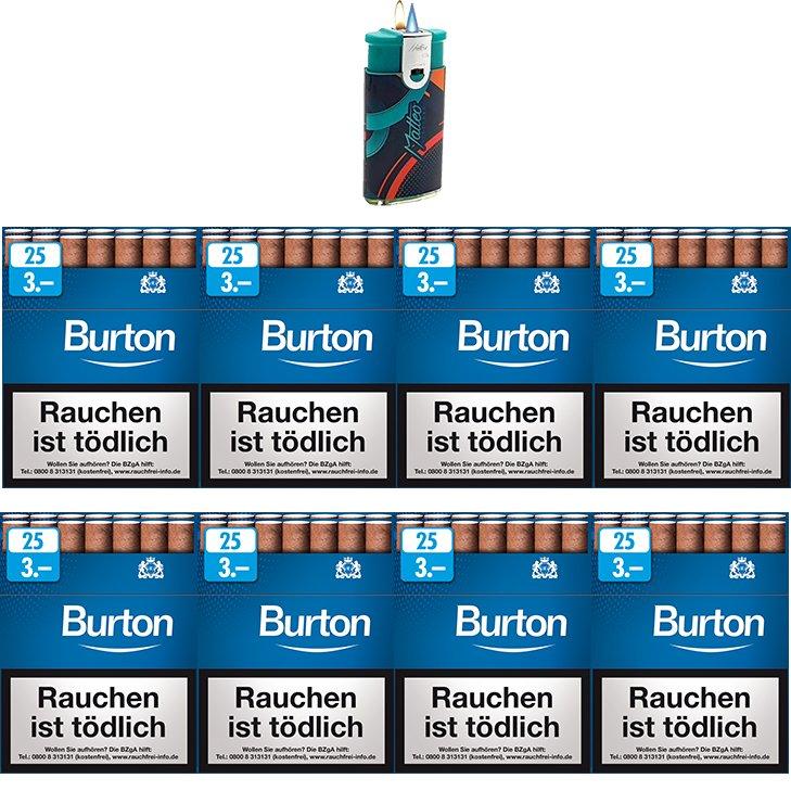 Burton Blue Zigarillos mit Filter (2 Stangen) 16 x 25 Stück
