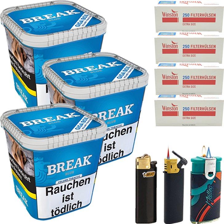 Break Blue 3 x 230g mit 1000 Special Size Hülsen