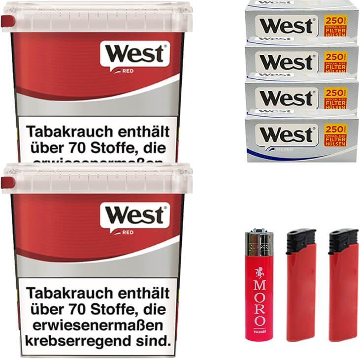 West Red 2 x 260g mit 1000 Silver Special Size Hülsen