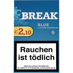 Break Blue Zigarillos mit Filter (2 Stangen) 20 x 17 Stück