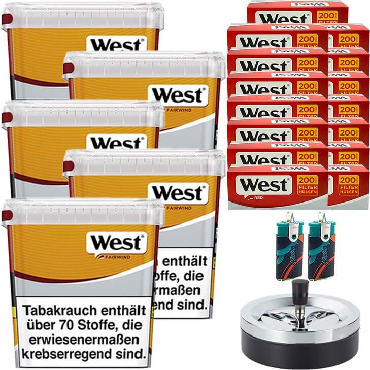 West Yellow Fairwind 5 x 280g mit 3000 King Size Hülsen