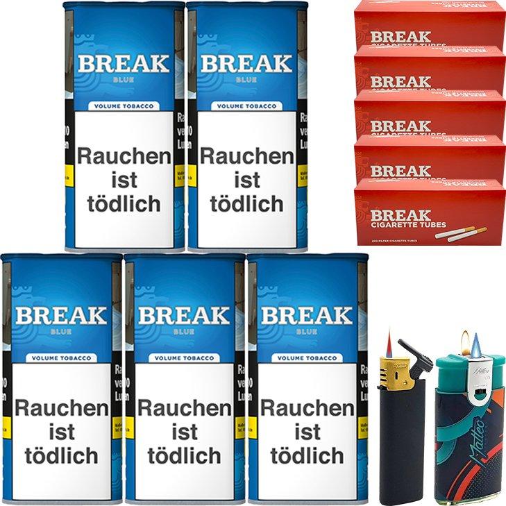 Break Blue / Blau 5 x 115g mit 1000 Hülsen