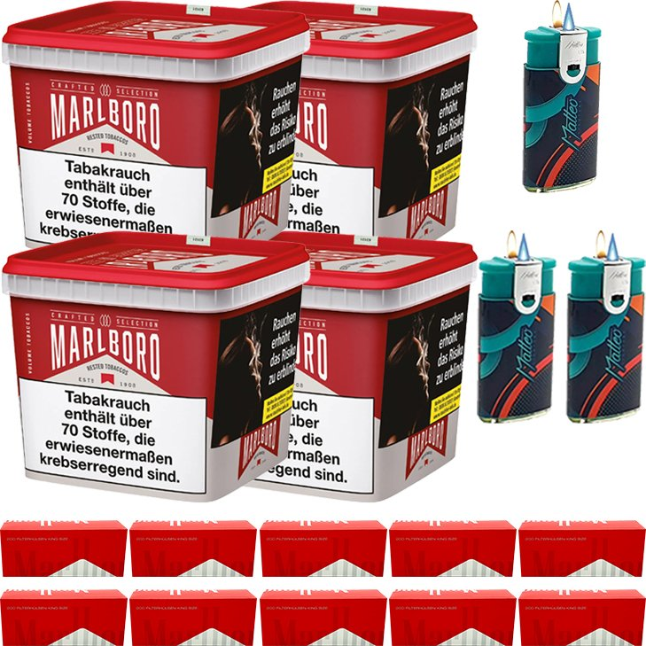 Marlboro Crafted Selection 4 x 300g mit 2000 King Size Hülsen