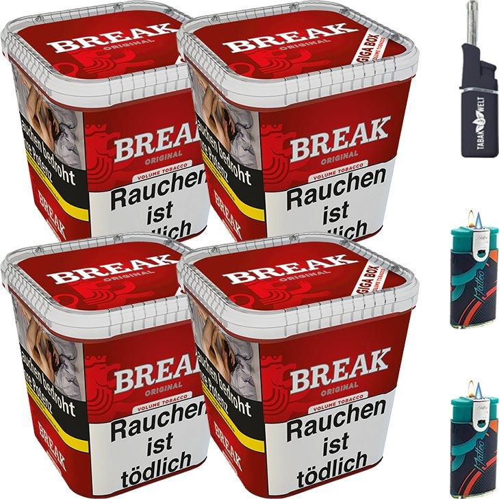 Break Original 4 x 230g mit Feuerzeuge