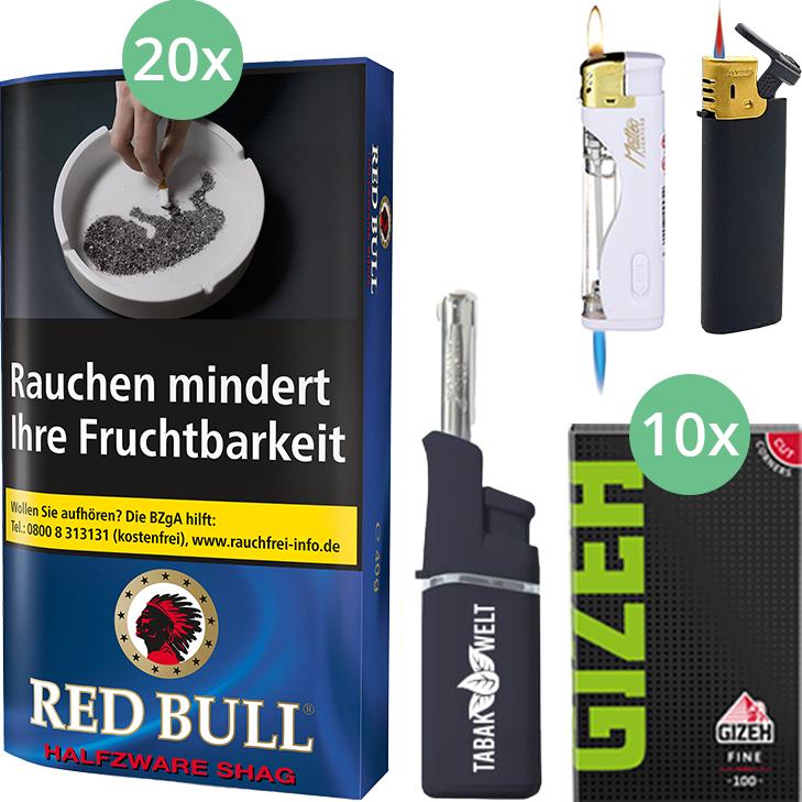 Red Bull Halfzware Shag 20 x 40g mit Gizeh Blättchen