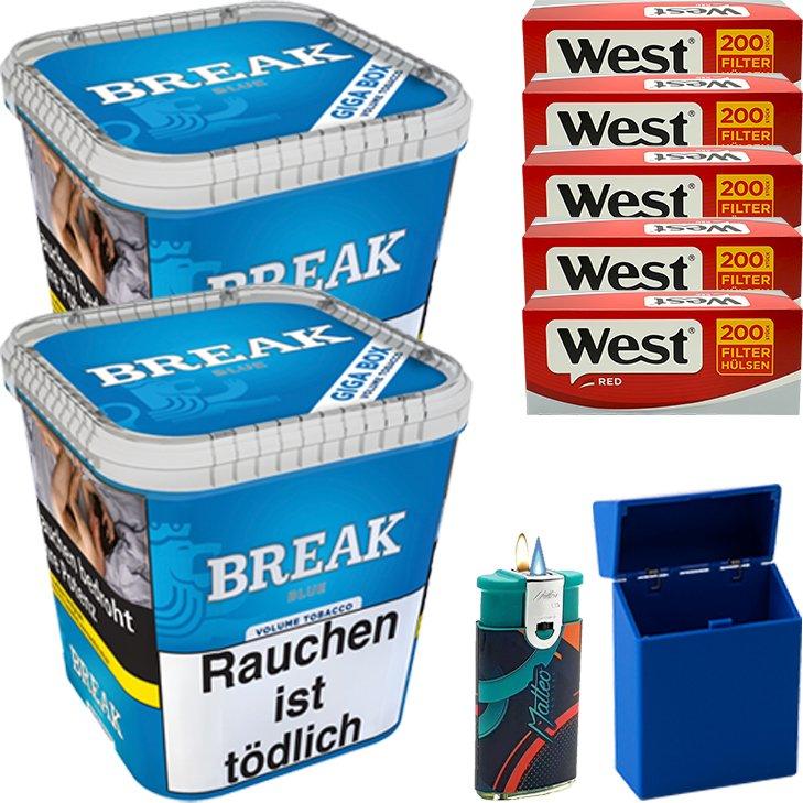 Break Blue / Blau 2 x 230g mit 1000 Hülsen